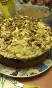 Double-Layered Carrot Cake with Lemon Cream Cheese Icing